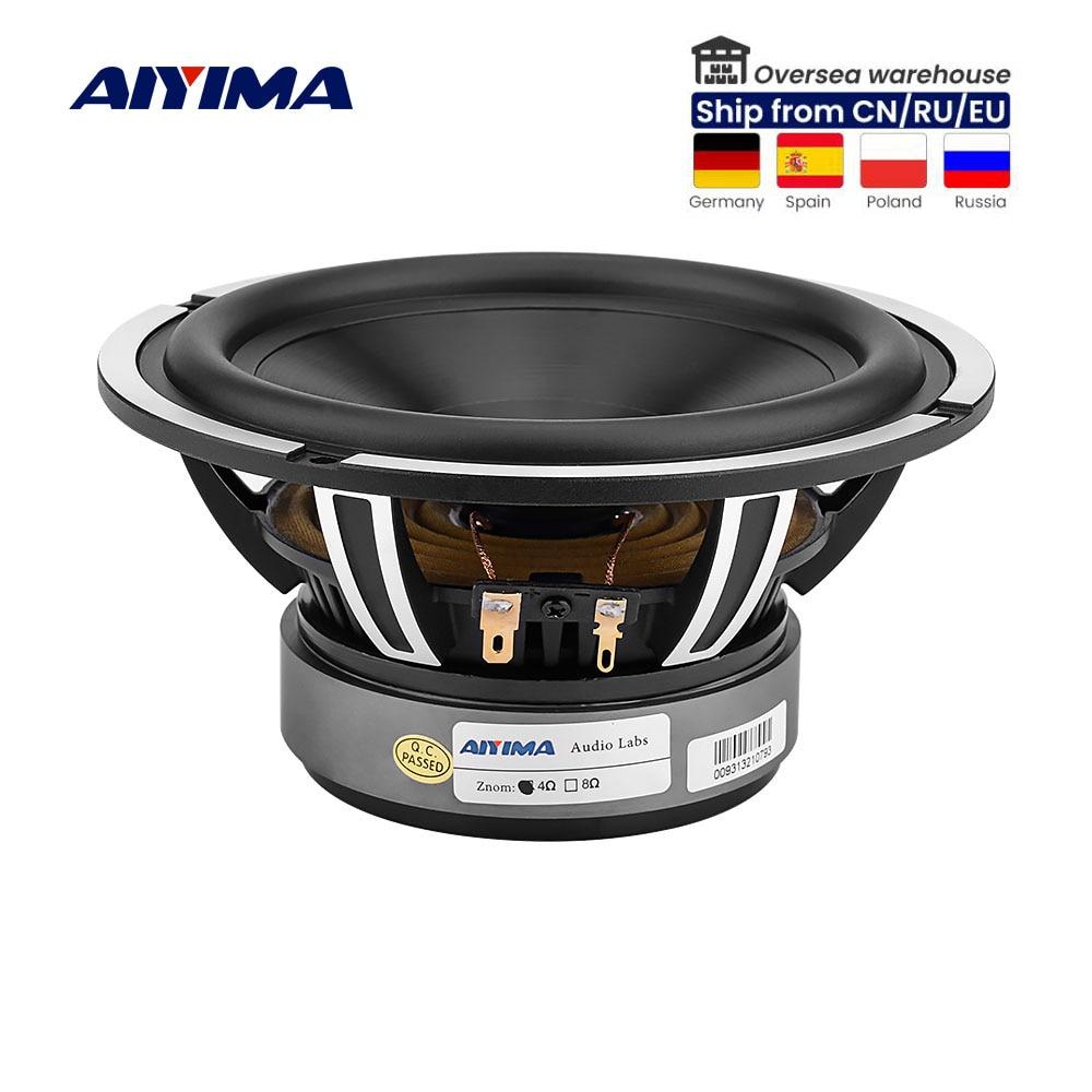 AIYIMA 1 قطعة 6.5 بوصة مكبر الصوت المتكلم 50W 4 أوم باس الصوت سيارة الصوت المتكلم سائق الألومنيوم السيراميك الأسود الماس الصب Booksheft