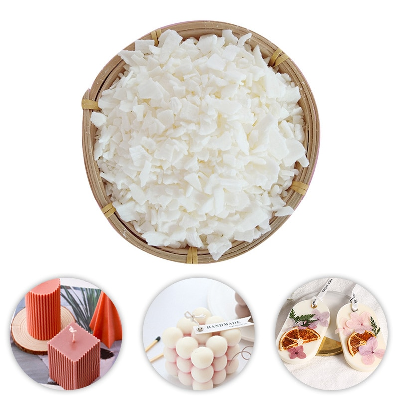 0.5/1KG Natural Soy Wax Candle Raw Material Handcraft Wax Candle Making Supplies DIY Candle Making Sealing Wax Accessories