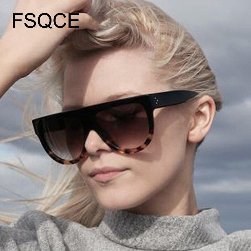 Óculos de sol oversized moda óculos de sol feminino estilo superior plano design da marca vintage óculos de sol feminino grande quadro tons mais tamanho