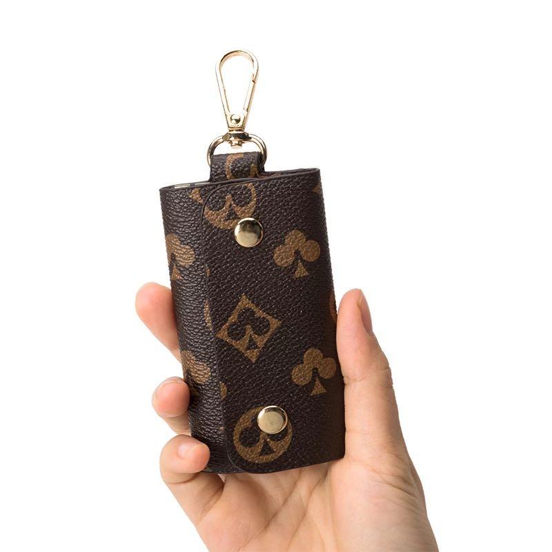 Чехол для ключей с новым принтом, чехол для ключей от автомобиля в деловом стиле, чехол для ключей унисекс, чехол для ключей с подвеской на та... чехол