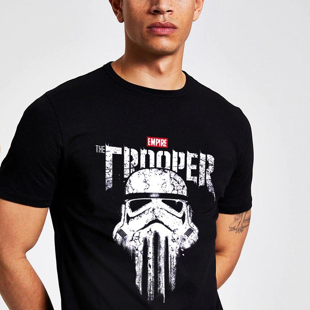 Camiseta Imperial de Stormtrooper Punisher con Calavera, camiseta de Rock And Roll Homme, Camiseta de algodón orgánico XS-3XL Homme