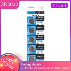 5Pcs/Card YCDC 3V CR2032 Coin Cell DL2032 5004LC Battery KL2032 Lithium Button Battery 2032 Watch Energy Cell pilas Wholesale
