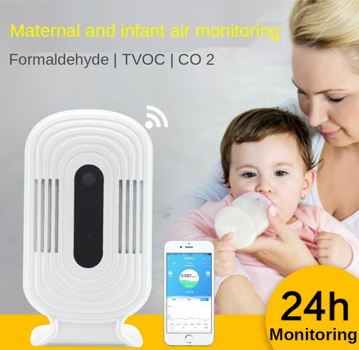 Intelligent WIFI Smog Meter CO2 HCHO TVOC Air Quality Analysis Tester Detector Sensor Temperature Humidity Monitor enlarge