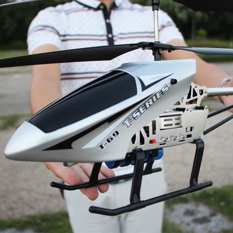 Gran Control remoto de alta calidad, carga de avión, helicóptero RC 4ch, vuelo anti-gotas, cerca de 10 minutos de batería con luz LED