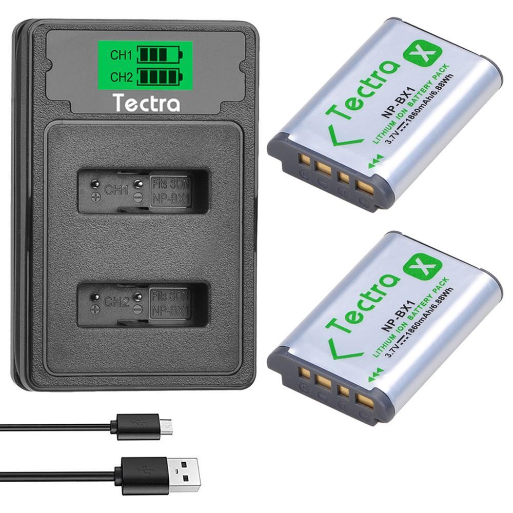 2 uds 1860mAh NP-BX1 NPBX1 batería para Sony HX300 HX400 HX50 HX60...