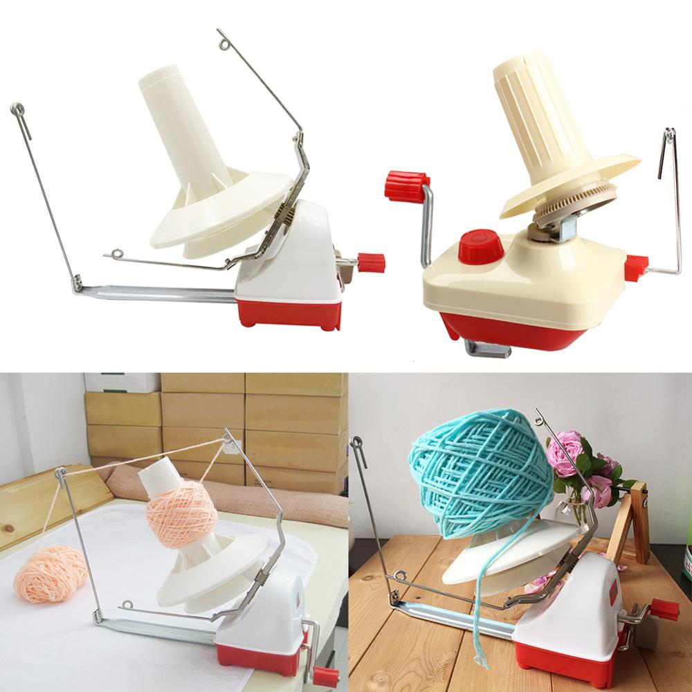 Máquina de tejer, bobinadora Manual de hilo, línea de cuerda de fibra, bobinadora Manual de bolas, bobinadora de lana, accesorios de costura, triangulación de envío