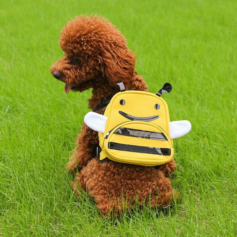 Pet Dog Bag Canvas Backpack Cute Cartton Animal Outdoor Hiking Back Harness Rucksack Travel Cute Dog Bag