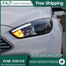 Phares pour voiture Ford Focus 2015-2017 ST Sytle DRL jour lumière courante lampe frontale LED Bi xénon ampoule antibrouillard voiture accessoire