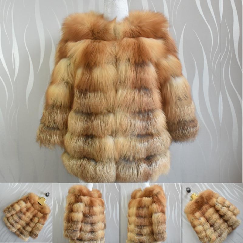 معطف قصير من فرو الثعلب الأحمر الطبيعي للنساء ، ملابس شتوية جميلة 2020 ، جلد أصلي للتدفئة ، عصري ، 100%