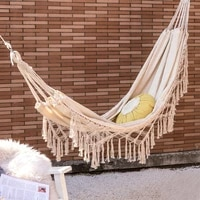 double hammock outdoor camping travel hunting hanging hammock bed garden swing hanging chair balancoire