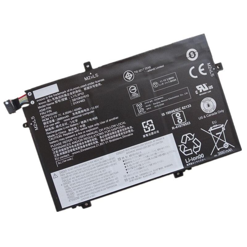 الأصلي 01AV463 01AV464 01AV465 01AV466 L17L3P52 L17M3P53 L17L3P54 SB10K97610 45Wh بطارية كمبيوتر محمول لينوفو ثينك باد L480 L580