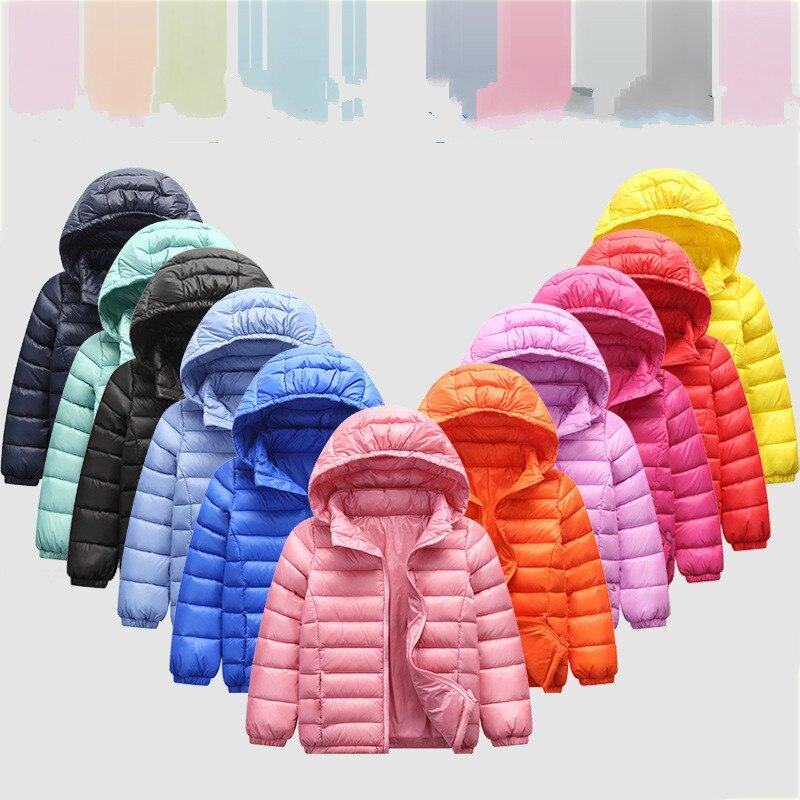 90% White Duck Winter Children's Lightweight Casual Down Jacket Boy Girl Winter Jacket Coat Baby Clothes Kids Snowsuits Winter