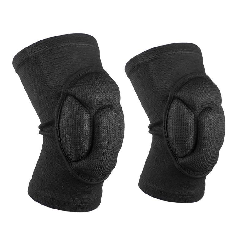 1 par de esponjas de fútbol voleibol deportes extremos rodillera soporte espesamiento rótula Protector de la rodilla