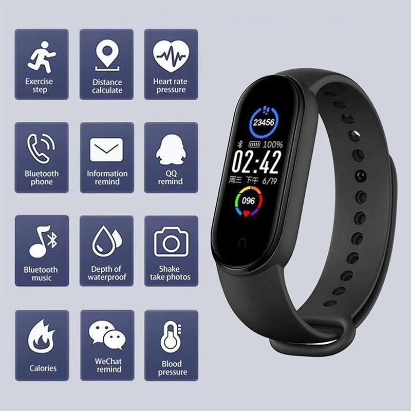 M5 Sport Fitness tracker call Watch Smartband Smart Bracelet Blood Pressure Heart Rate Monitor Smart band Wristband Men Women