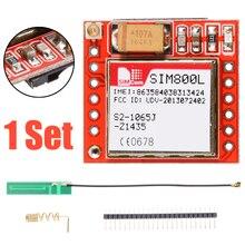 Neue Ankunft 1pc Micro SIM800L GPRS GSM Telefon Modul Hohe Qualität SIM Karte Bord Quad-band Onboard + antenne für Arduino