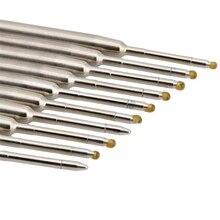 10pcs Universal Standard Style Blue Ink 1MM Medium Nib Ball Point Pen Refills H7EC