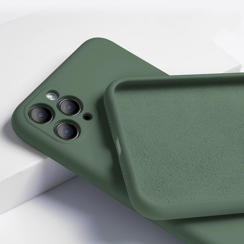 Funda blanda mate de silicona líquida para iPhone X XR MAX, carcasa mate suave para iPhone 11 Pro Max, Funda Flexible para teléfono a prueba de golpes
