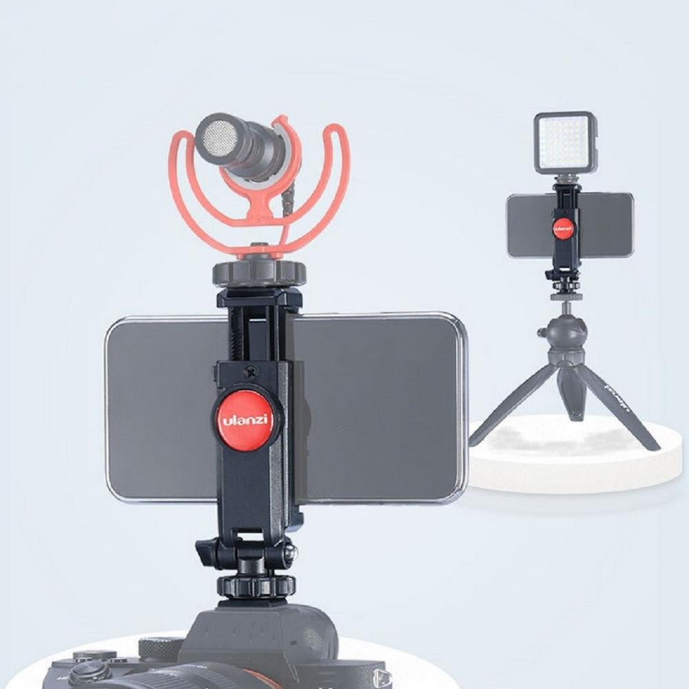 Ulanzi, Mini Clip de montaje de luz LED para teléfono, tornillo adaptador de trípode, soporte de montaje giratorio de 360 grados para teléfono, soporte de Clip para Smartphone