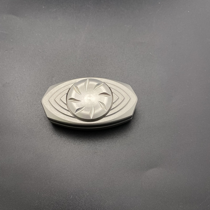 Fun Play EDC Fingertip Gyro Diamond Mirror Ppb Zirconium Diamond Mirror Push Card Toy Gyro PPB