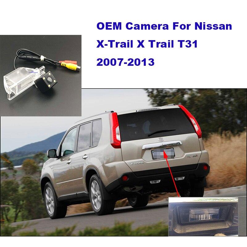 Yessun HD CCD visión nocturna vista trasera de coche cámara para Nissan x-trail 2010 para nissa X Trail 2010 T31 2007-2013 cámara trasera