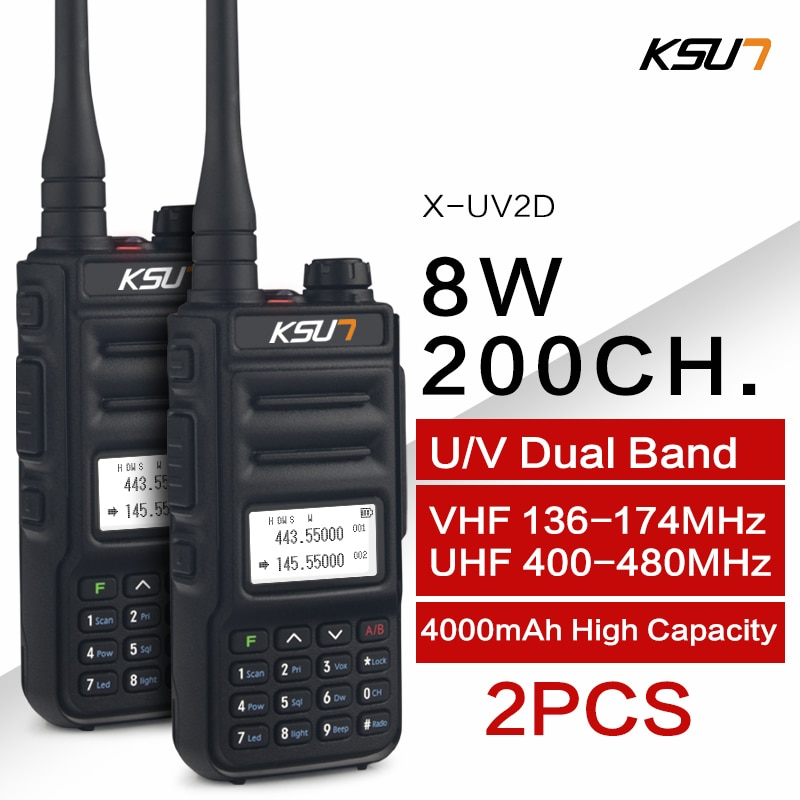 KSUN Walkie Talkie Dual Band Handheld Two Way Ham Radio Communicator HF Transceiver Amateur Handy Wa