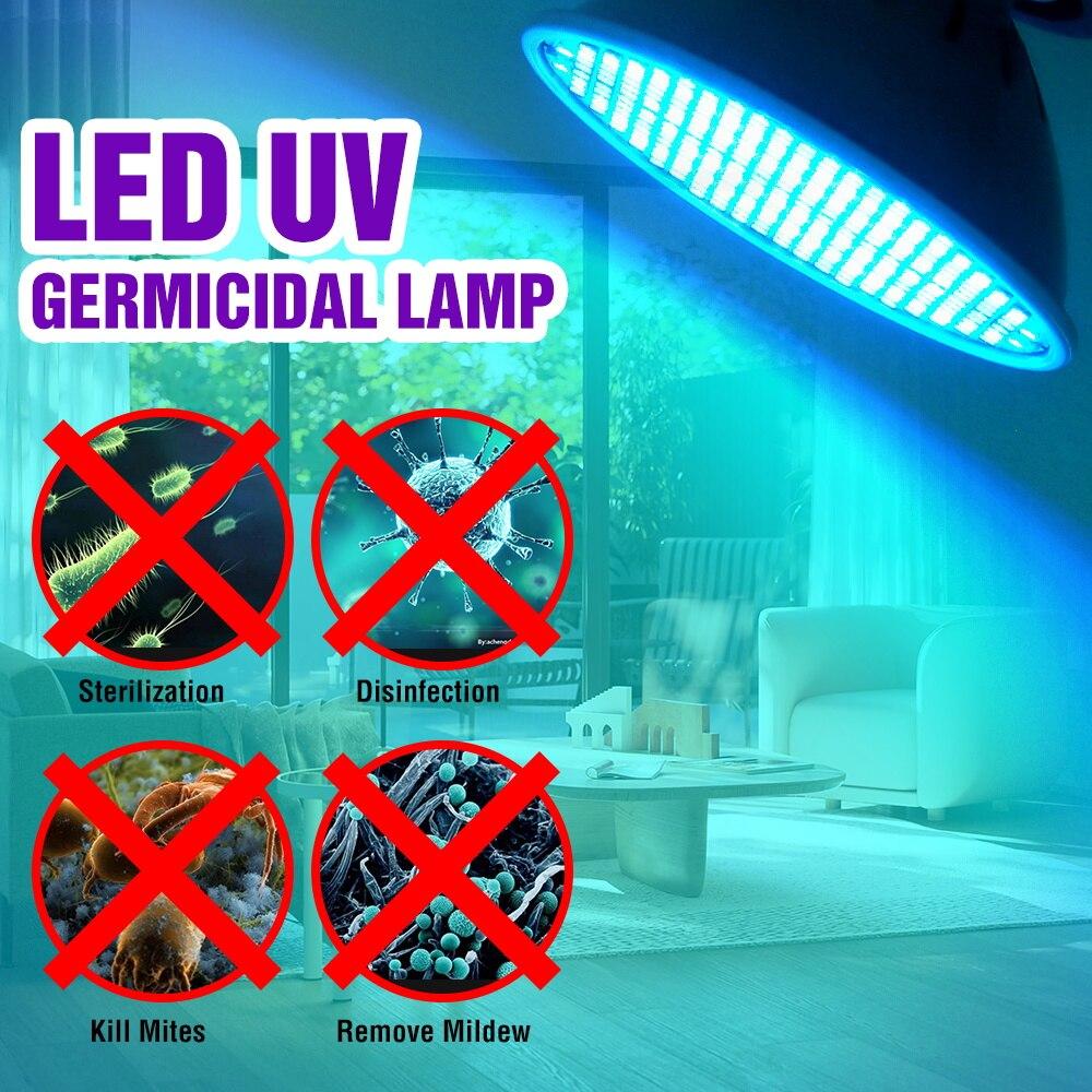 Led Esterilizador lámpara UV E27 UVC germicida lámpara 25W 35W 50W Ultravioleta...