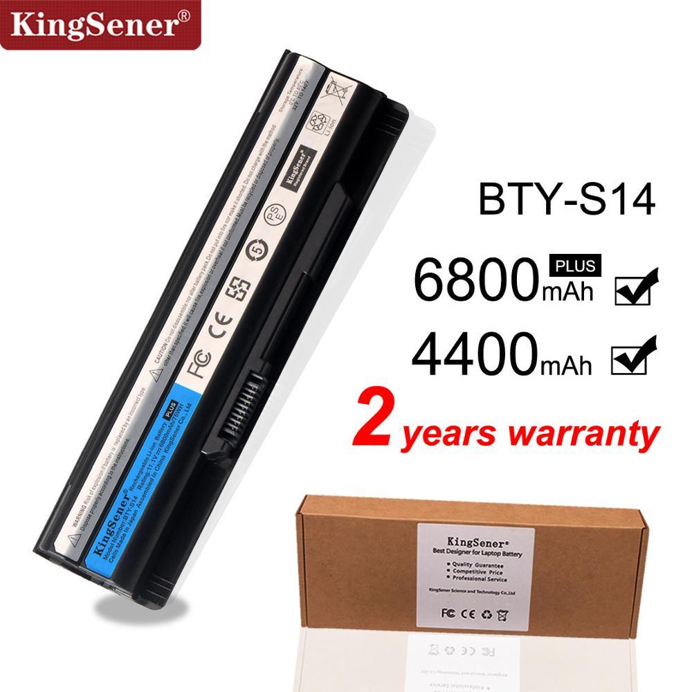 KingSener New BTY-S14 Laptop battery For MSI Battery GE70 GE60 FX720 GE620 GE620DX A6500 CR41 CR61 FR720 CX70 FX700