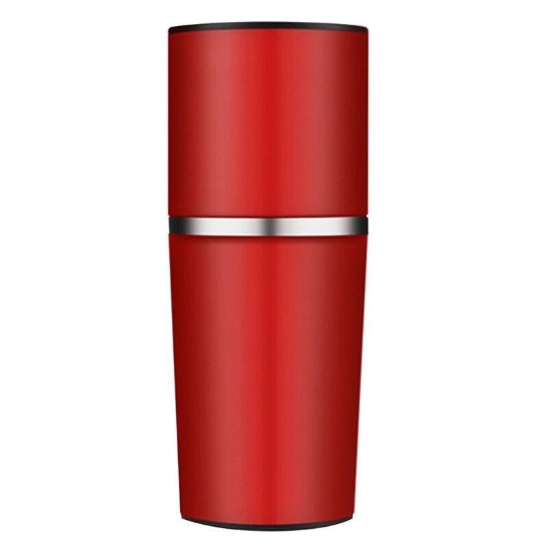 دليل صانع القهوة طاحونة القهوة طاحونة اليد الضغط المحمولة ماكينة إسبريسو حبوب البن المطاحن الضغط زجاجة