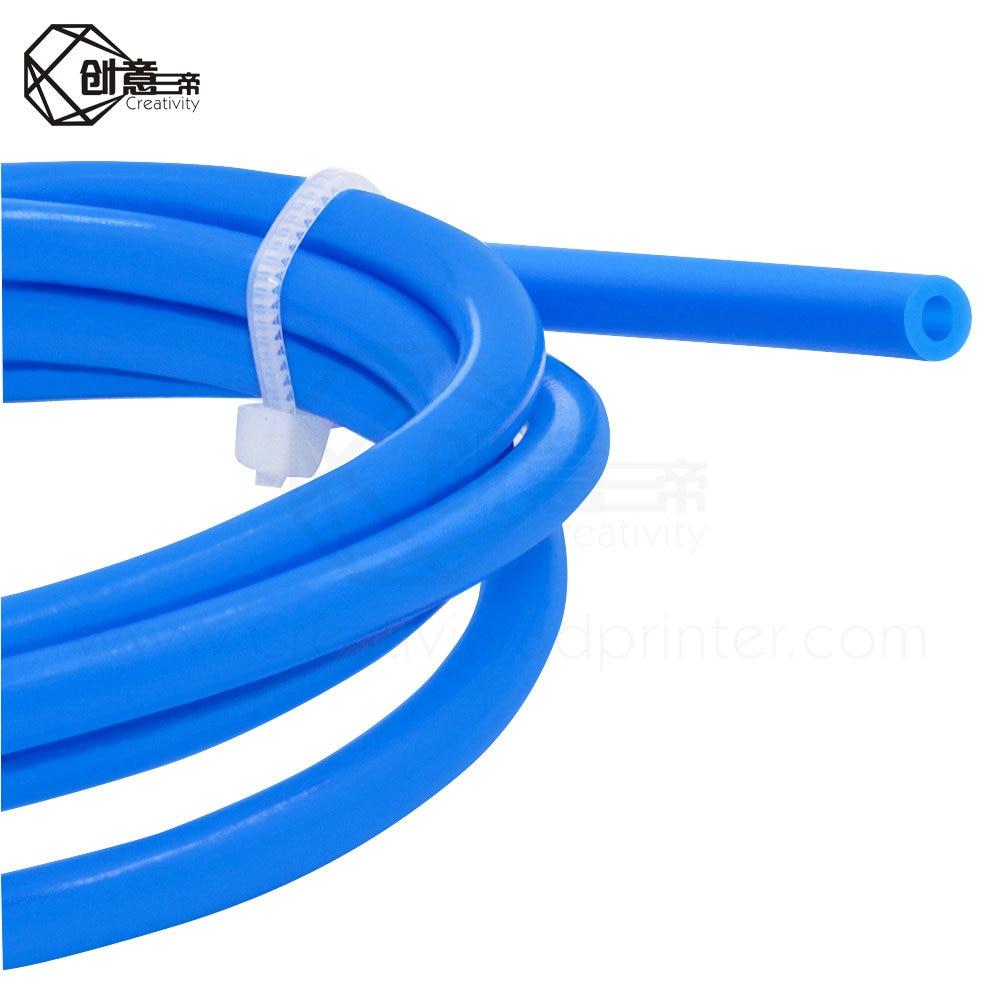 1 metro tubo de ptfe teflonto tl-alimentador hotend reprap rostock bowden extrusora 1.75mm id1.9mm od4mm tubo de capricornus