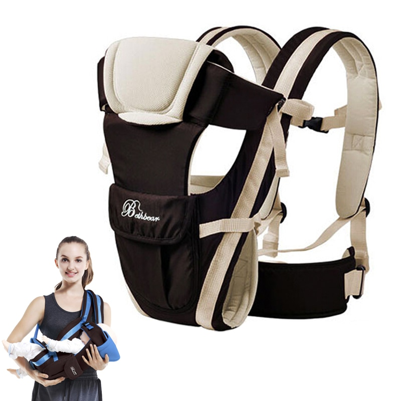 Ergonomic Baby Carrier 0-30 Months Breathable Front Facing 4 in 1 Infant Comfortable Sling Backpack Pouch Wrap Baby Kangaroo New