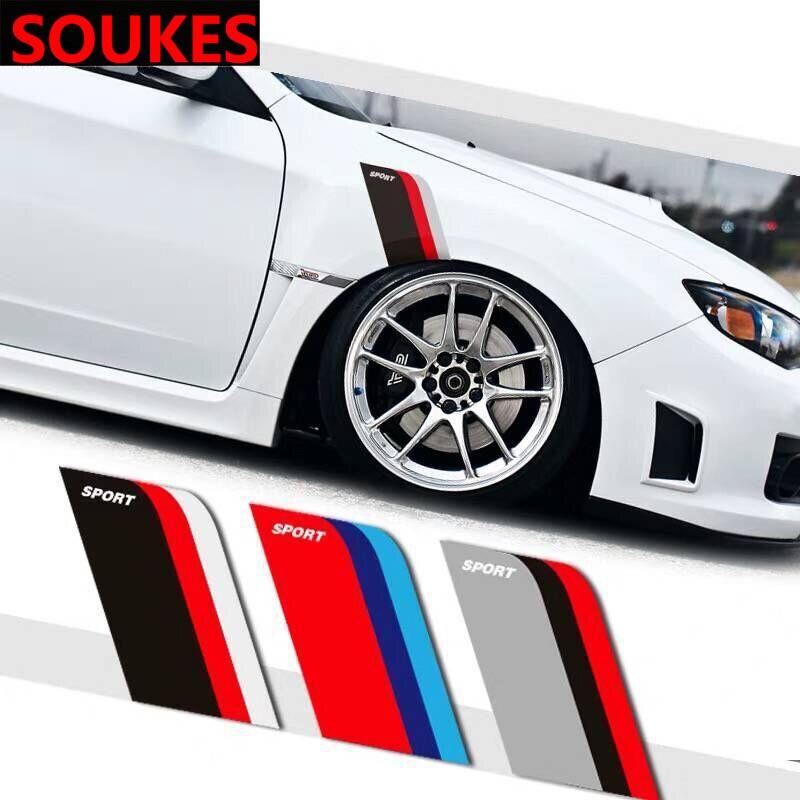 Nueva pegatina de parachoques de neumático de coche de carreras deportivo para Peugeot 206 307 407 308 208 Toyota Corolla Rav4 Yaris Avensis Mini Cooper
