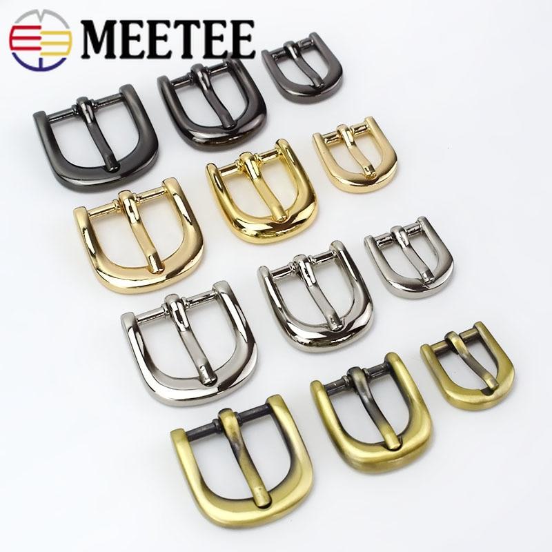 4pc Meetee Handbag Shoes Strap Belt Metal Pin Buckles 11/15/20mm Ring Slider Web Adjuster DIY LeatherCraft Repair AccessoryF3-25