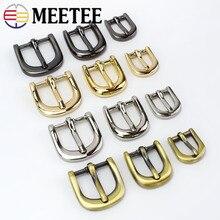 Bolso Meetee de 4 piezas, zapatos con correas, hebillas de Metal con pasador, 11/15/20mm, anillo deslizante, ajustador Web, DIY, AccessoryF3-25 de reparación de artesanía de cuero