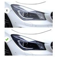 lsrtw2017 For cla180 cla200 cla45 cla250 cla mercedes benz black transparent anti-scratch TPU car headlight protective film