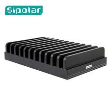 Sipolar Multi-fonction Station de Charge support de Dock De Charge Épissage Titulaire Boîte De Rangement Pour iPhone 5 6S 7 Plus iPad MAC Comprimés