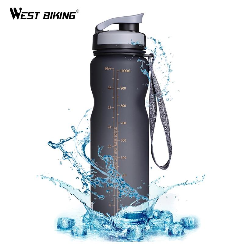 West biking 1000 ml bpa livre bicicleta garrafa de água garrafas de bicicleta filtro portátil chaleira à prova de vazamento copo esporte ciclismo garrafa de bebida