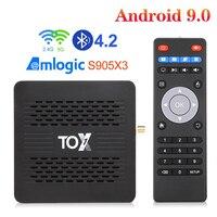 Приставка Смарт-ТВ S905X3, 4 + 32 ГБ, 9,0 ГГц, Bluetooth