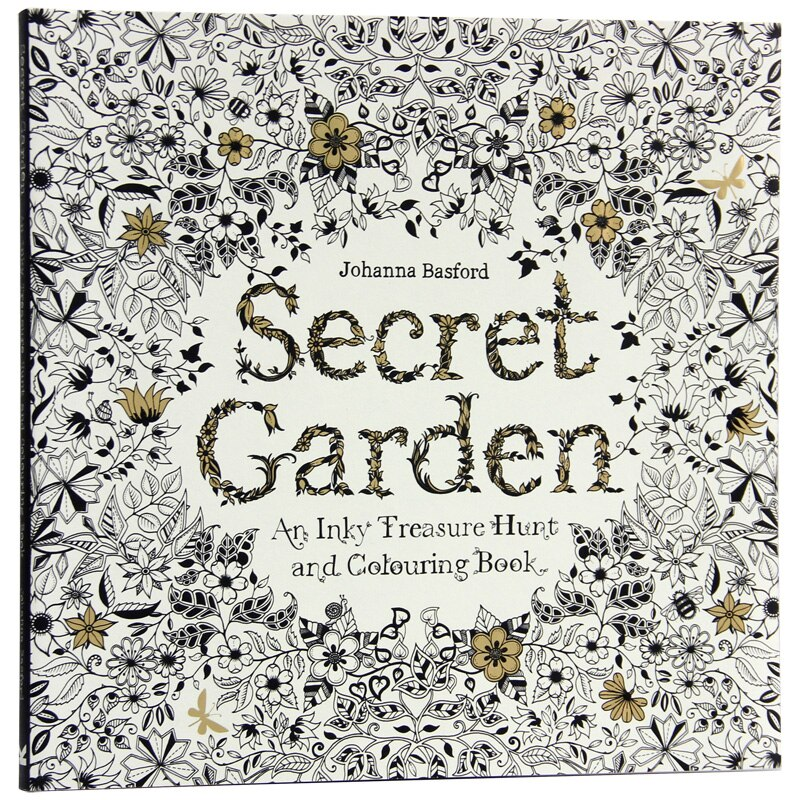 English Secret Garden Coloring Book Creative Stationery Coloring Book Children's Graffiti This Adult Stress Relief Coloring Book