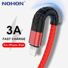 NOHON USB Cable For iPhone 11 12 13 Pro Max Xs X XR 8 7 6 6s Plus SE iPad Fast Charging Cord Mobile