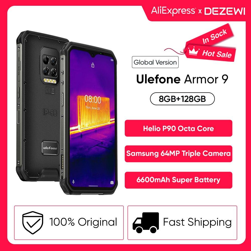 Перейти на Алиэкспресс и купить Ulefone Power 9 прочный мобильный телефон Термальность Камера смартфон Helio P90 восьмиядерных процессор 8 ГБ + 128 ГБ Встроенная память Мобильный телеф...