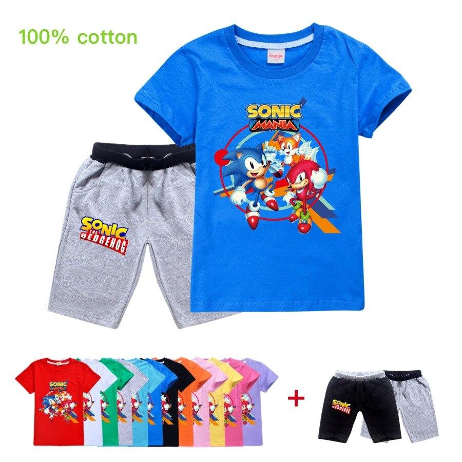 2020 meninos mario super sonic impressão sônica roupas meninas engraçado t-shirts traje crianças roupas de verão crianças t bebê tshirts