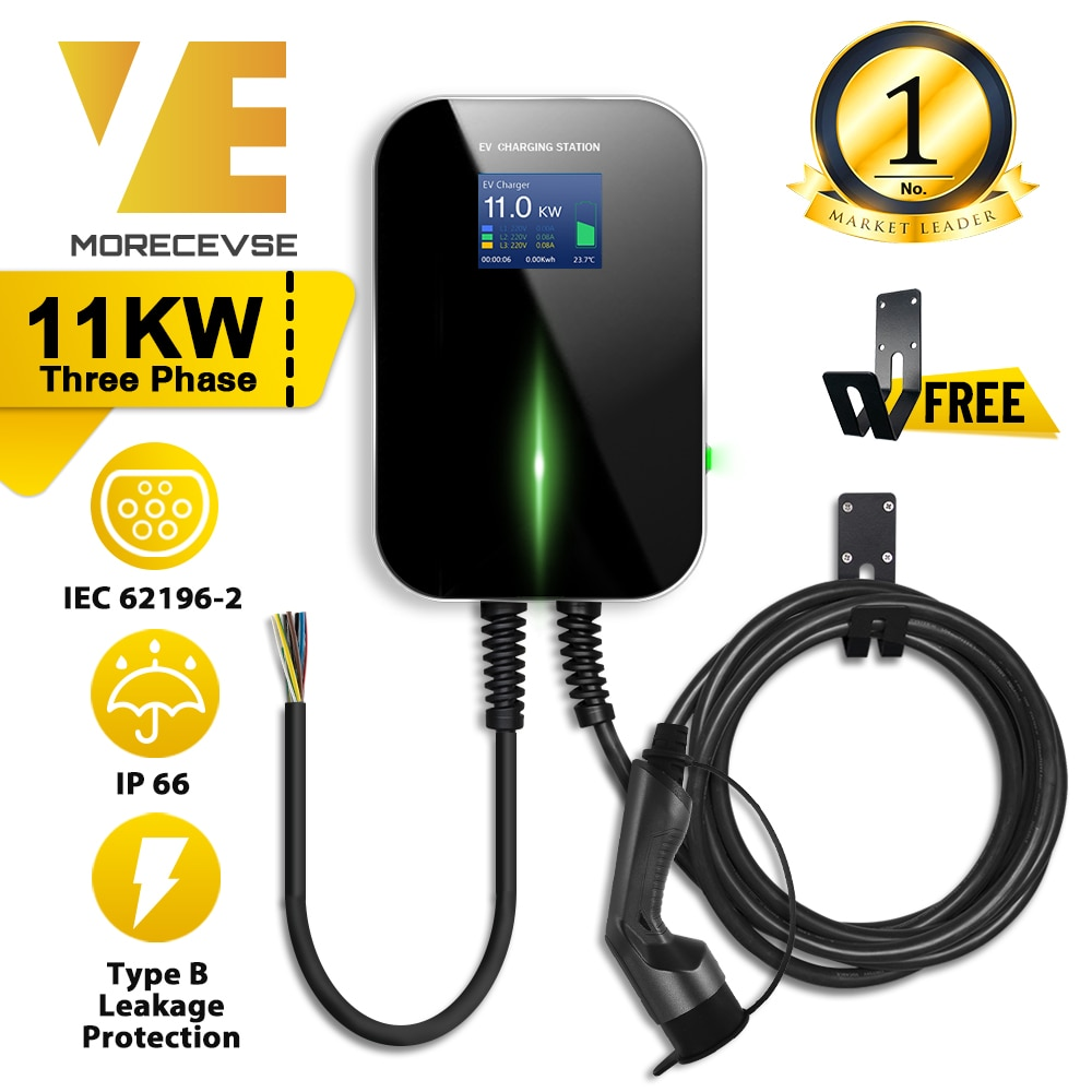 aliexpress.com - EV Charger Electric Vehicle Charging Station EVSE Wallbox with Type 2 Cable16A 3Phase IEC 62196-2 for Audi Mercedes-Benz, Smart