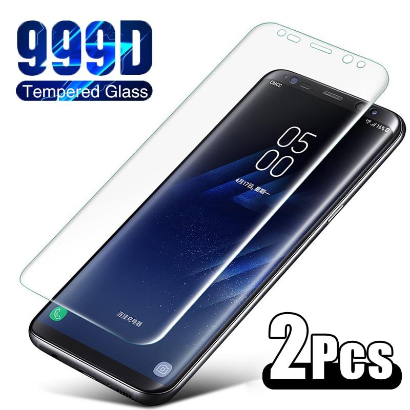 Protector de pantalla de cristal para Samsung Nota 20 Ultra Nota 10 9 8 Protector de pantalla para Samsung S21 Ultra S20 S8 S9