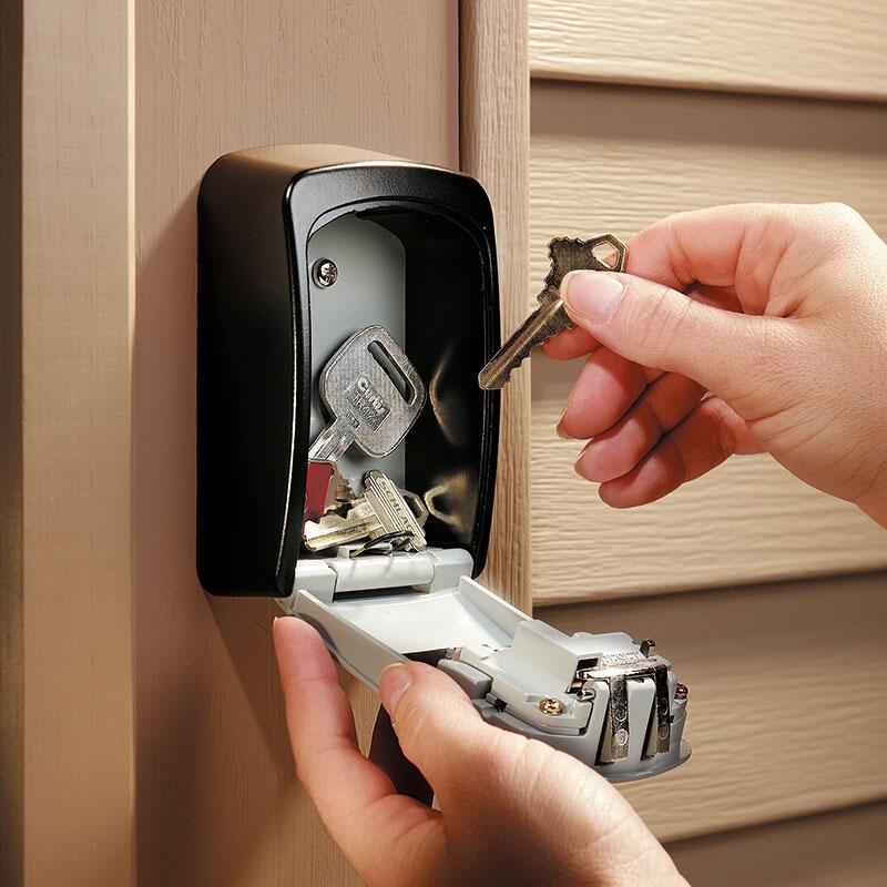 Wall Mount Key Storage Secret Box Organizer 4 Digit Combination Password Security Code Lock No Key Home Key Safe Box caja fuerte