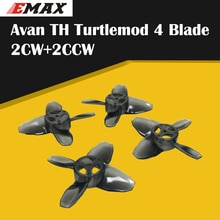 Sıcak EMAX Avan Tinyhawk TH Turtlemode pervane 2CW + 2CCW 4-Blade 40mm kapalı uçan 08025 Motor