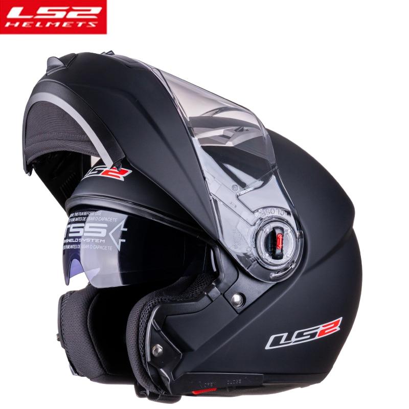 LS2 FF370 خوذة دراجة نارية قابلة للطي ، قناع كامل الوجه ، عدسة مزدوجة ، للرجال والنساء ، شهادة ECE