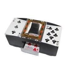Poker makinesi dayanıklı pratik taşınabilir elektrikli karıştırma aracı Poker makinesi otomatik kart Shuffler tatmin oynamak için ev Casino
