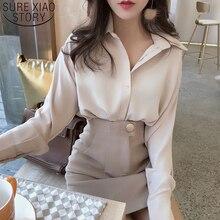 Abbigliamento coreano top e camicette da donna camicetta allentata stile OL camicie da donna POLO colletto 2021 manica lunga Casual femminile 8435 50