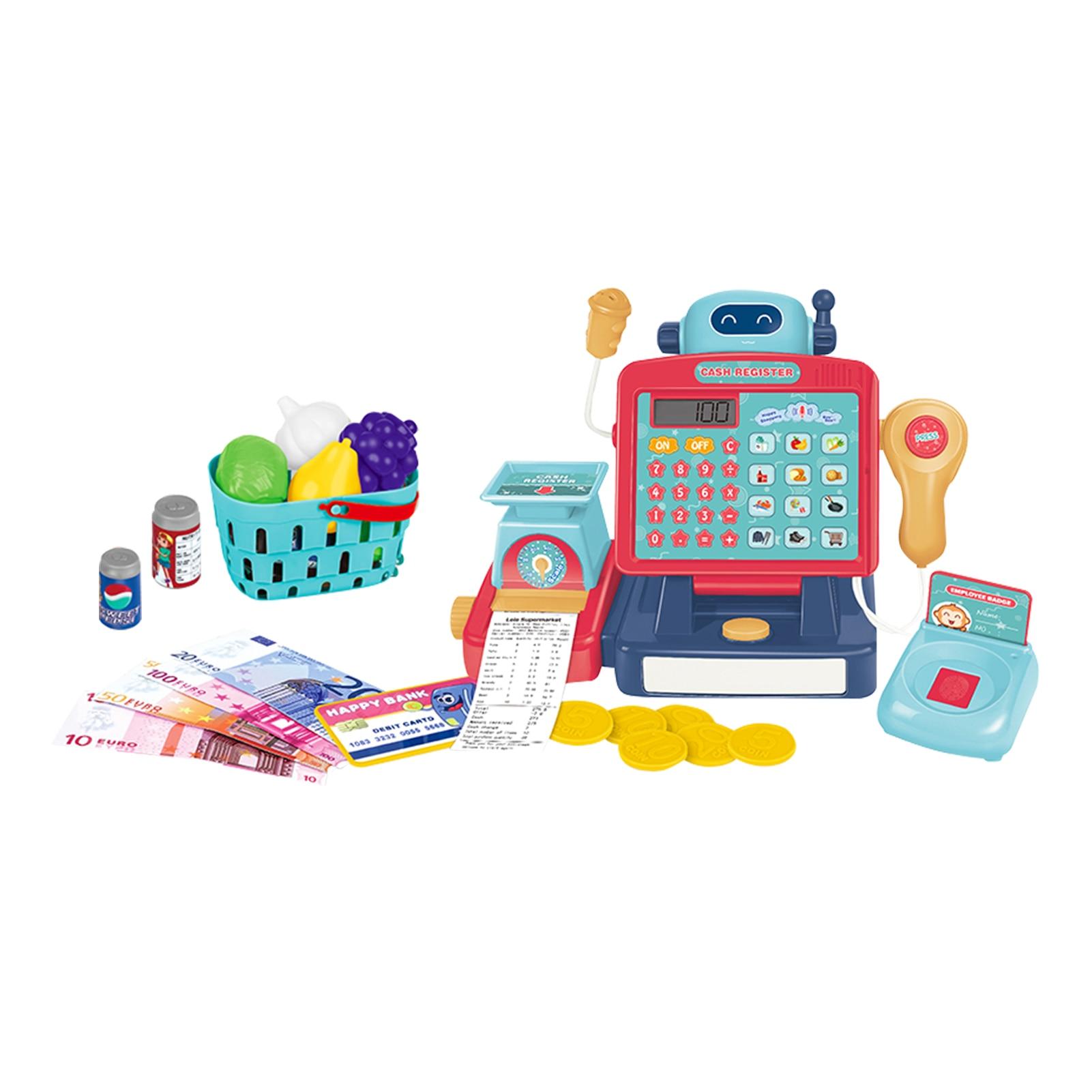 Дети ролевые игры супермаркет кассовый аппарат игрушки набор с калькулятором сканер ролевые игрушки Обучающие игрушки