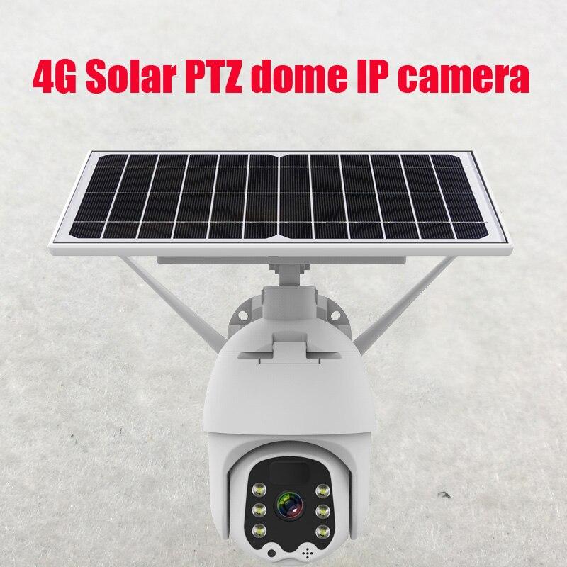 Скоростная купольная IP-камера Novoxy 4G на солнечной батарее с Wi-Fi и заряжаемым аккумулятором, беспроводная камера наблюдения 2 МП